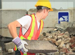 Enlèvement de gravats et déchets